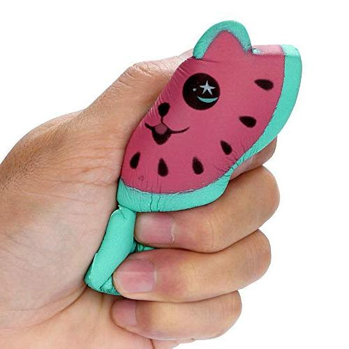 LtrottedJ Adorable Kitty Rising Fruit Scented Stress Relief Toy