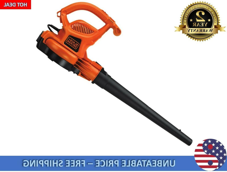 BLACK+DECKER 12-Amp 400-CFM 250-MPH Corded Leaf Vacuum