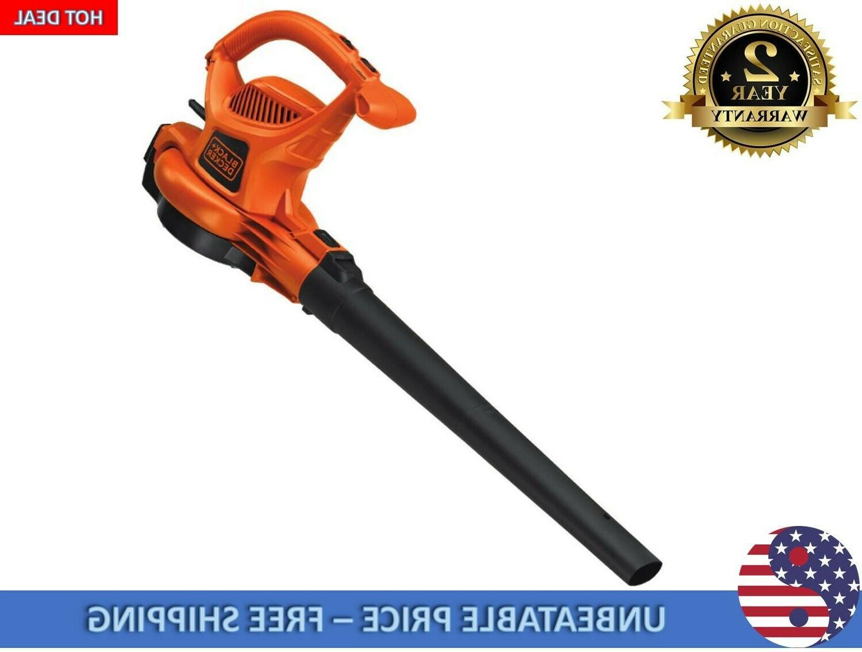 BLACK+DECKER 250-MPH Corded Leaf Vacuum