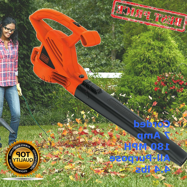 BLACK DECKER Electric Leaf 180 MPH 4.4 lbs