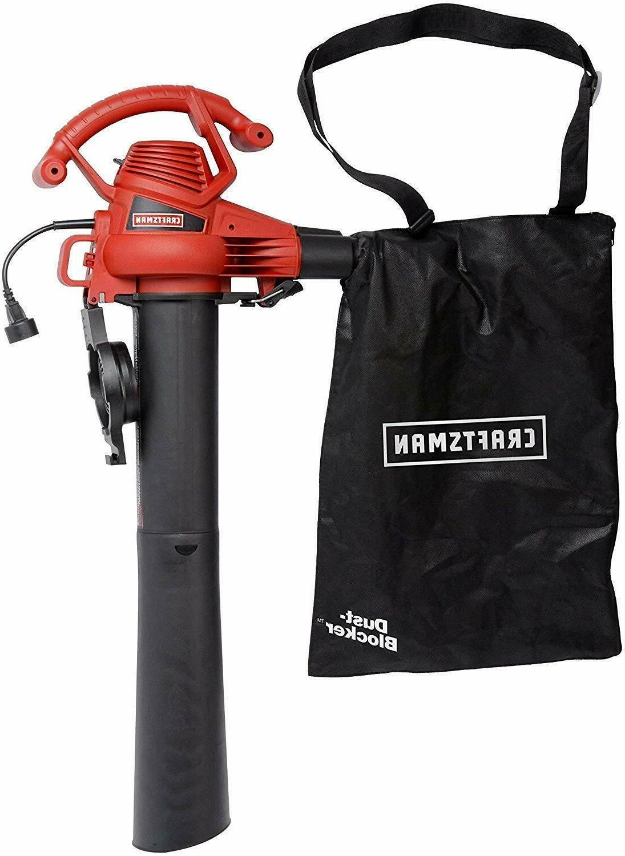 Blower Leaf Vacuum Cleaner Mulching Handheld 12-amp