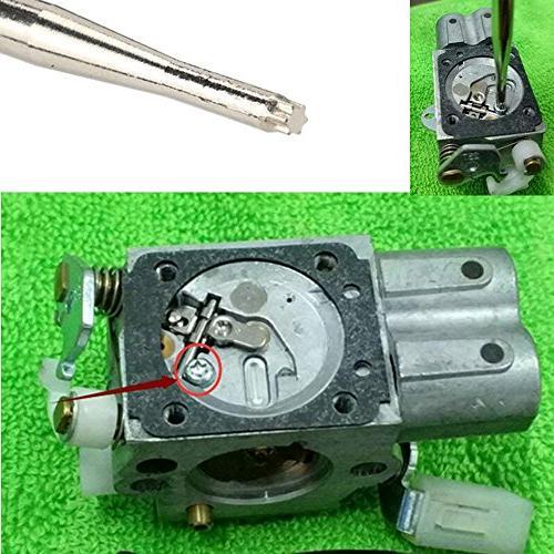 Leeyu Carburetor Adjustment for Cycle Small Engine Stihl Ryobi with Cleaning Kit Needles and