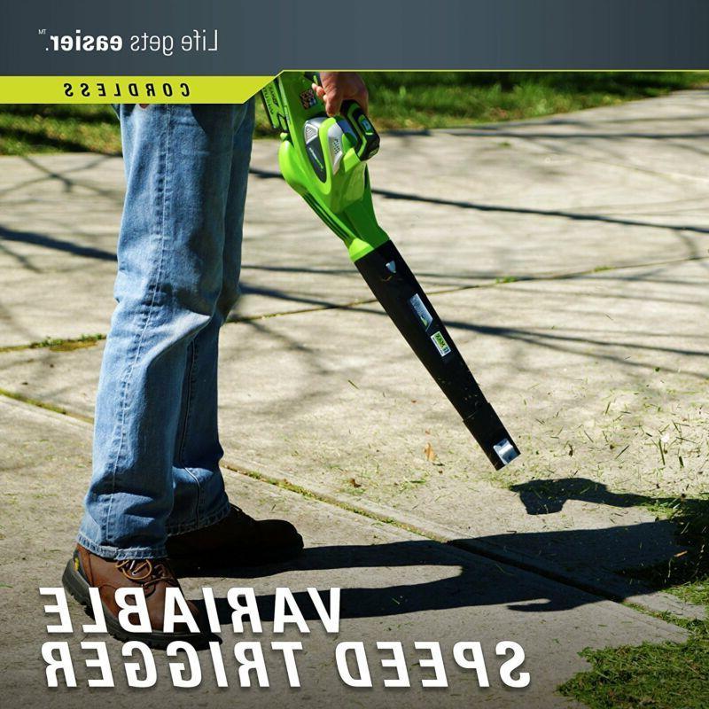 CORDLESS Leaf Blower Lawn Yard Lithium Battery Powered