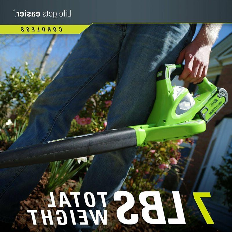 CORDLESS Blower Lawn Yard Lithium Powered G-MAX Tool Only
