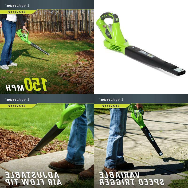 cordless leaf blower lawn yard sweeper lithium