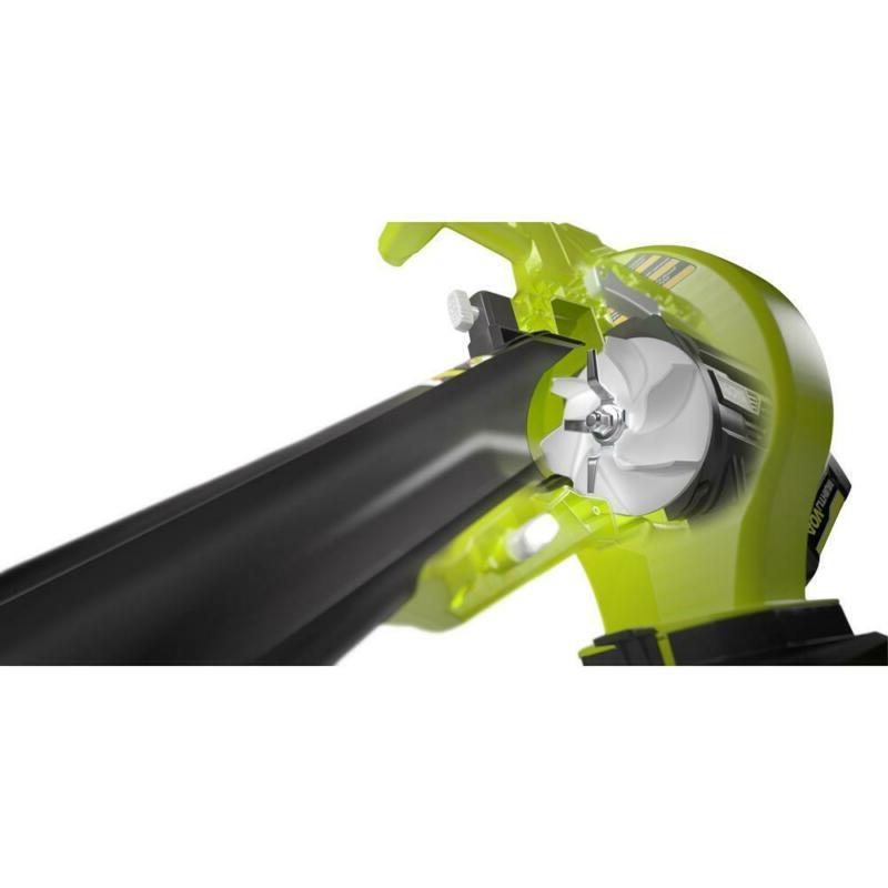 Cordless Blower Mulcher W/ Battery & Charger Adjustable Wheels