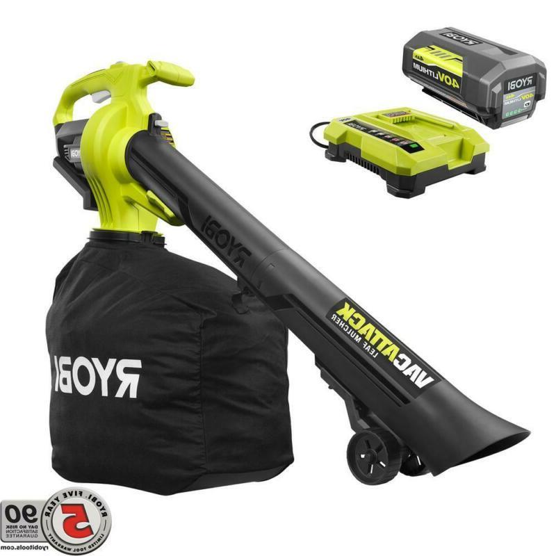 cordless leaf blower vacuum mulcher w battery
