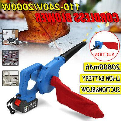 Cordless Leaf Battery Lawn Yard Leaves Suction