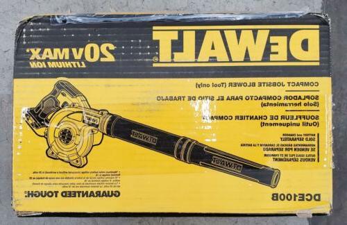 dce100b max compact jobsite blower