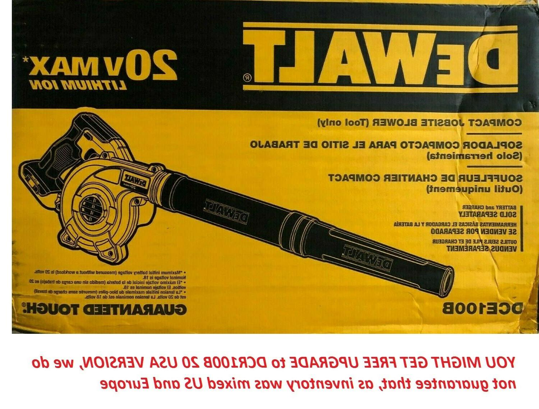 Dewalt DCE100B 20V Cordless Blower 18-20
