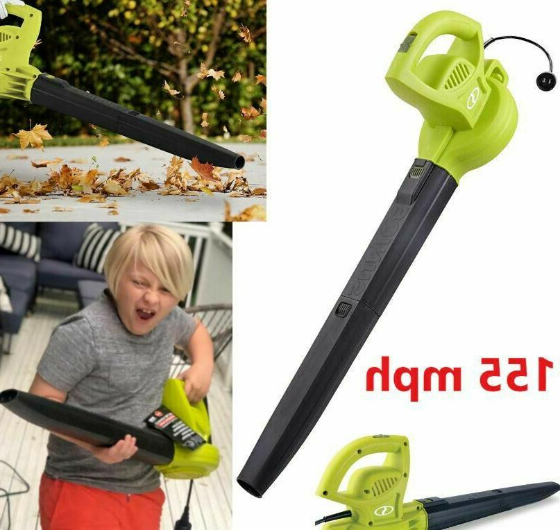 Electric Handheld Leaf Blower 155 MPH Lightweight 6 Amp Powe