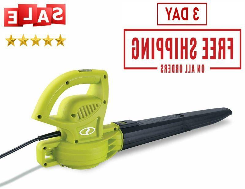electric handheld leaf blower sun joe 155