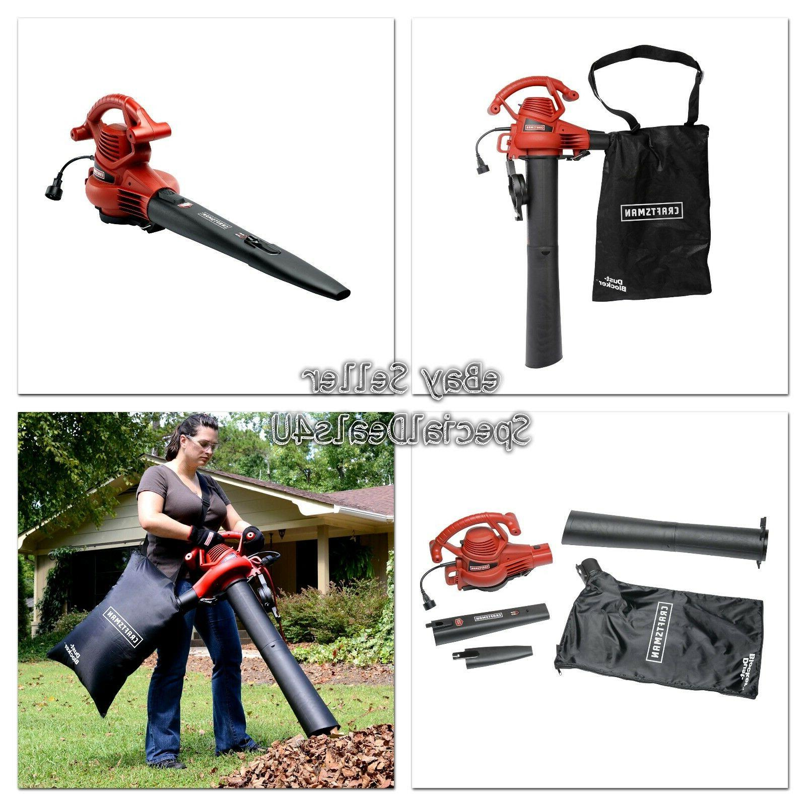 Electric Leaf Blower AMP Speed Lawn Power Mulcher