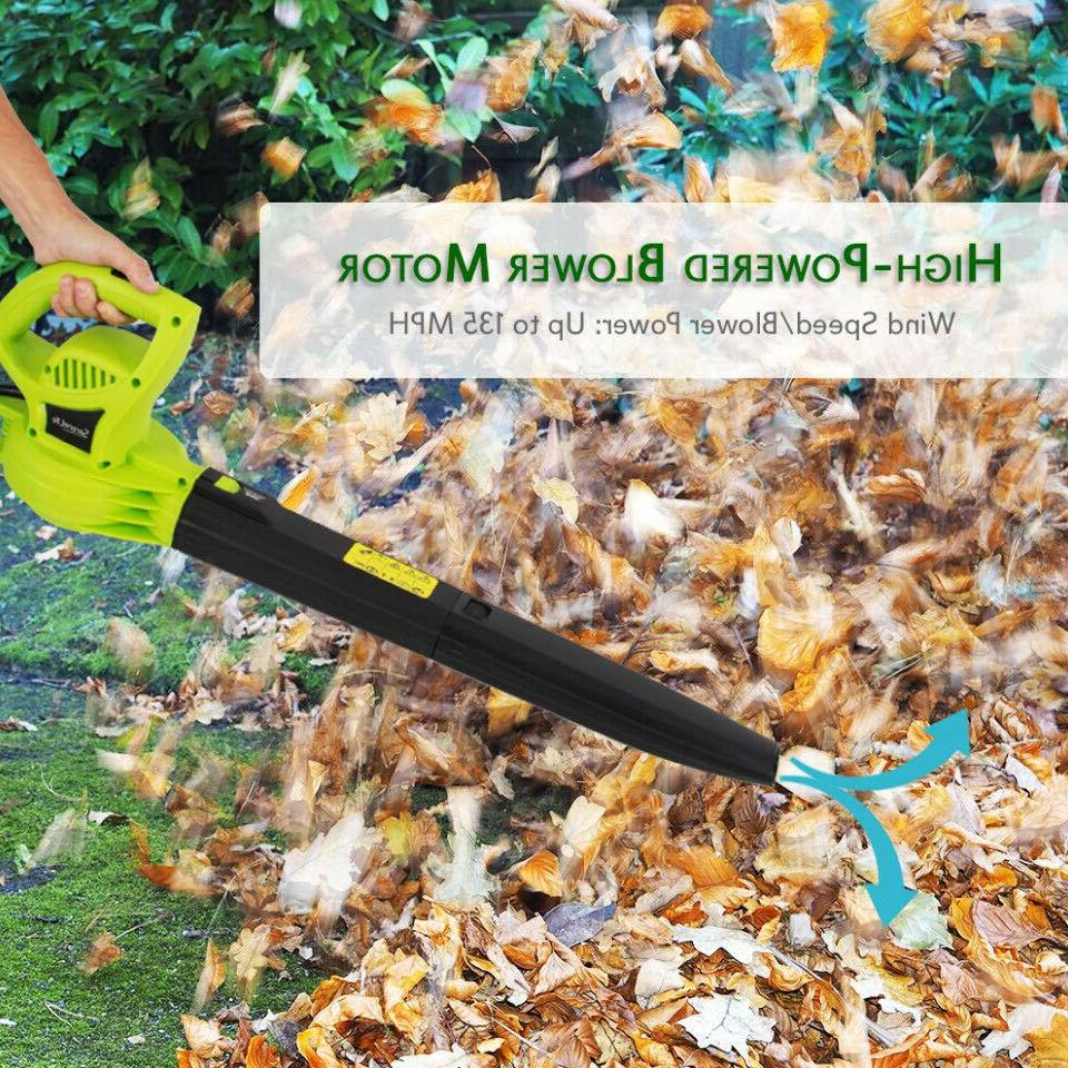 ELECTRIC LEAF BLOWER Corded Handheld Lightweight AMP 135 MPH