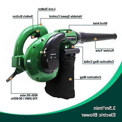 Electric Blower / Vacuum 1200W Corded 6 Heavy Duty