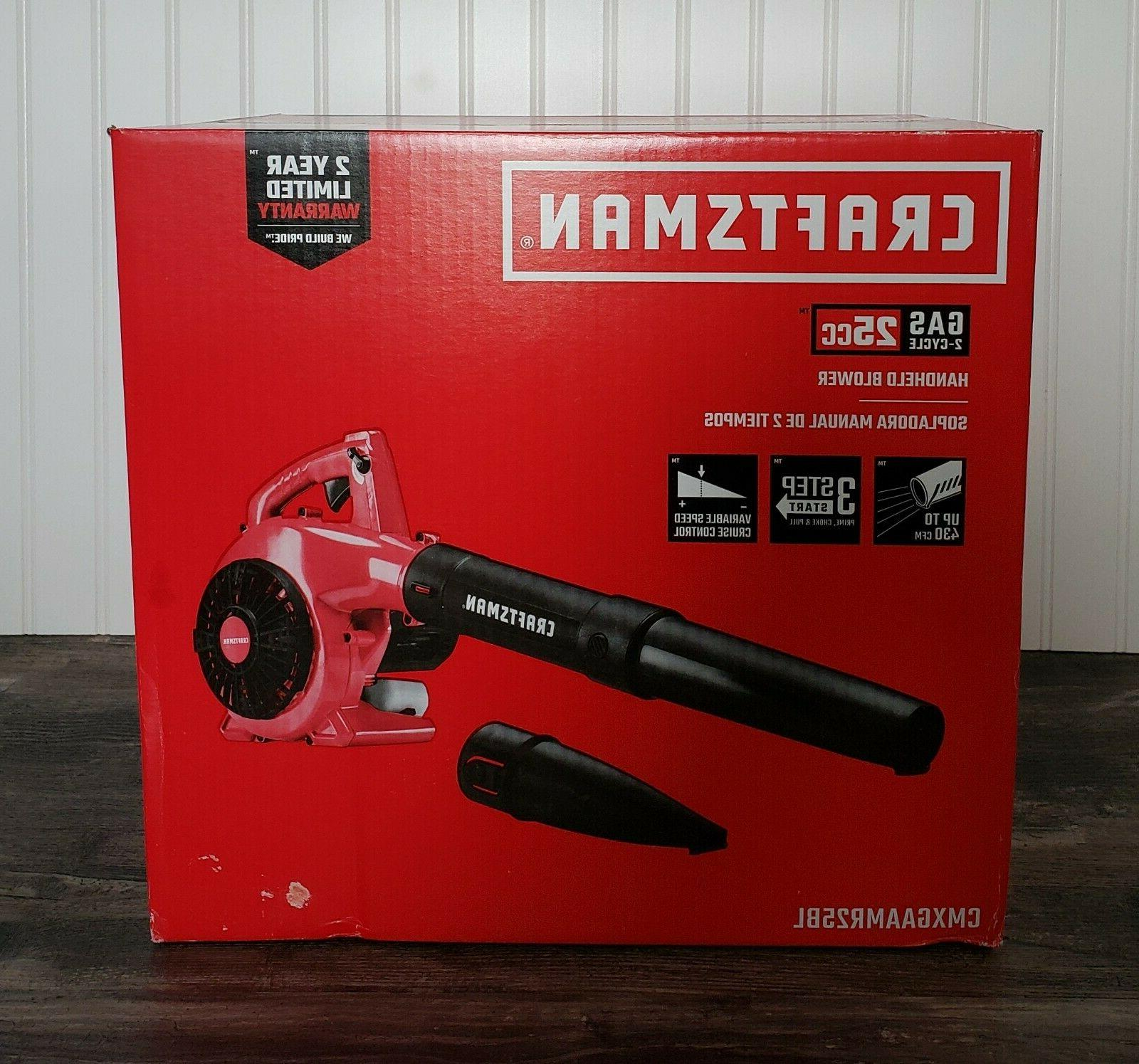 CRAFTSMAN Handheld Gas Leaf Blower B210 2-Cycle 200-MPH Easy Pull