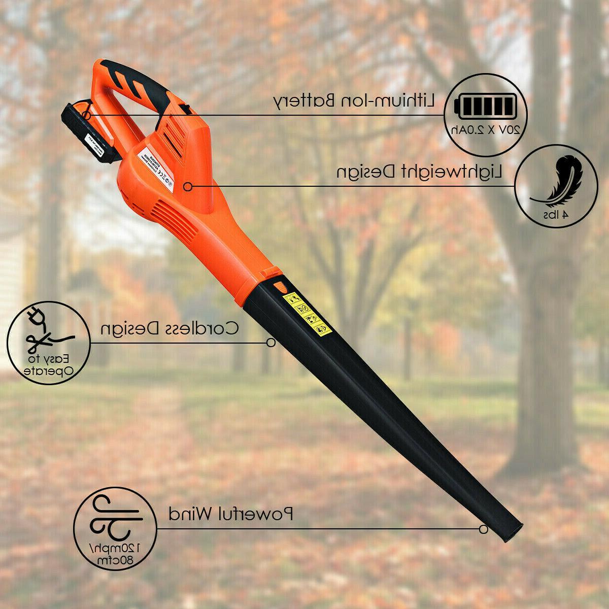 Leaf Cordless Battery Handheld mph New