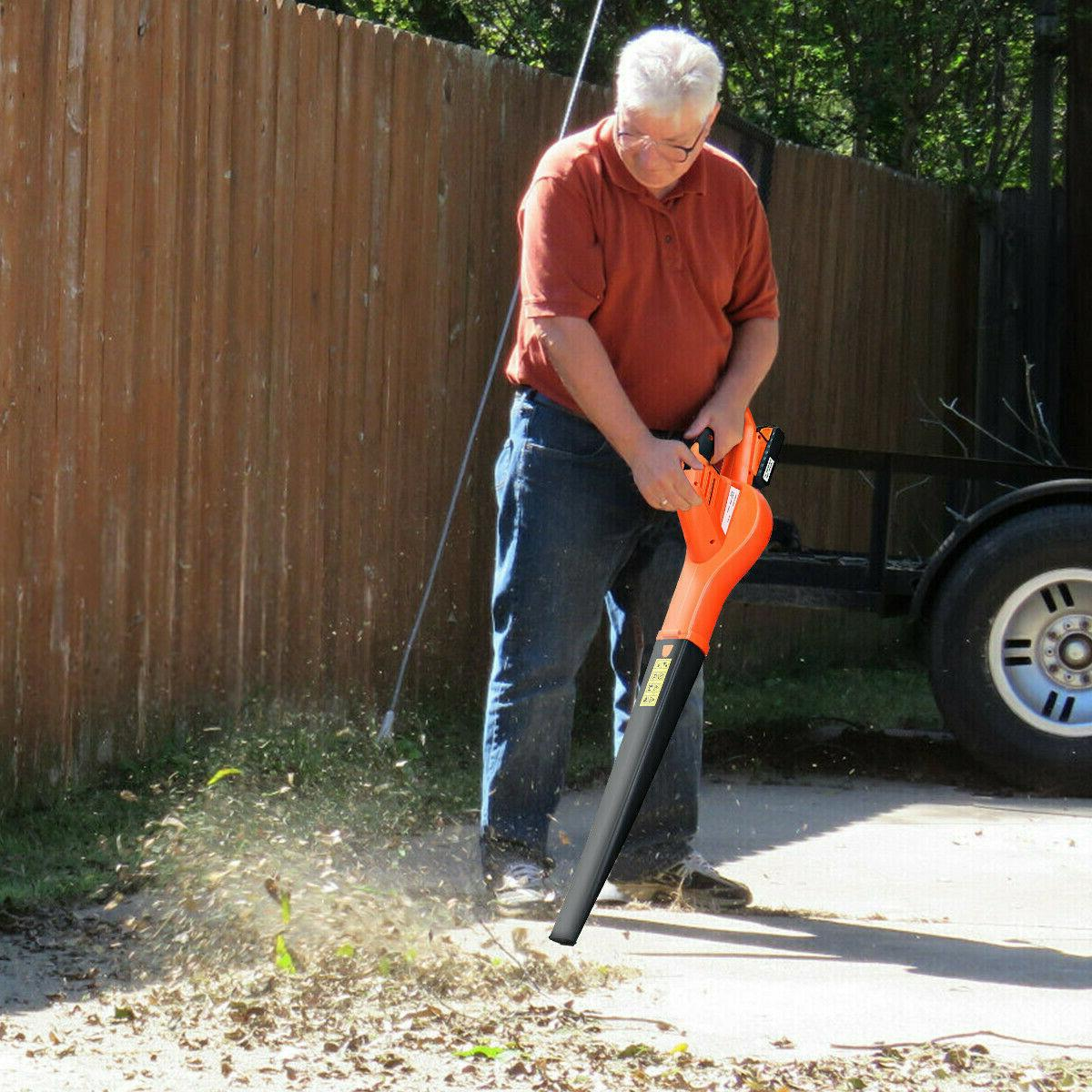 Leaf Blower Battery Operated Handheld mph Lightweight New