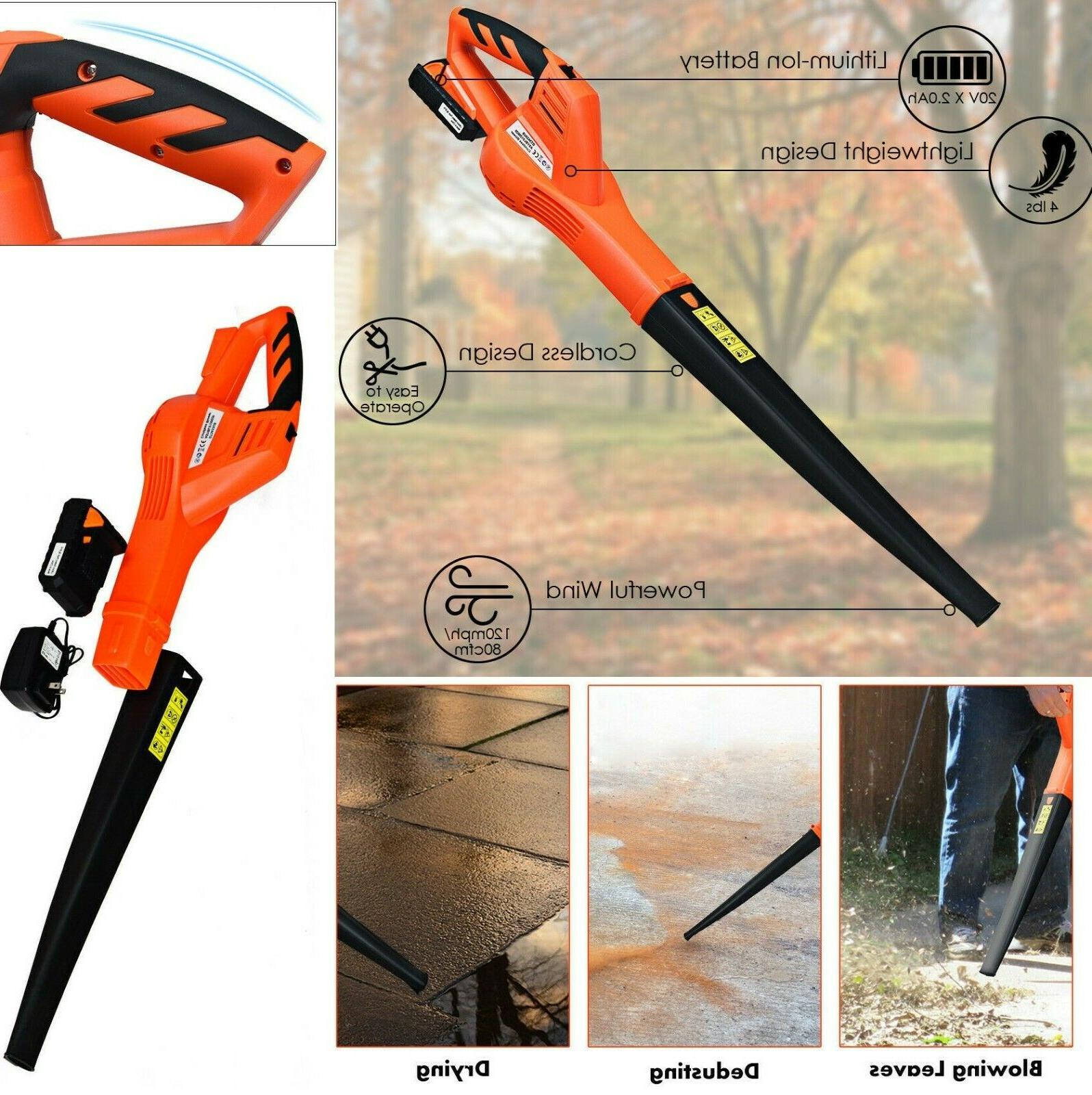 leaf blower cordless electric battery operated handheld