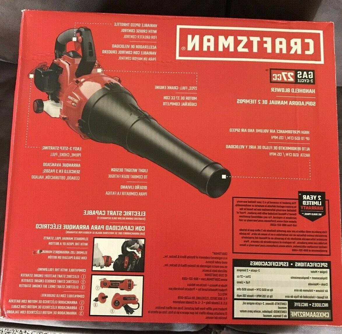 Craftsman Leaf Blower B225 MPH 27cc, CMXGAAMR27MF