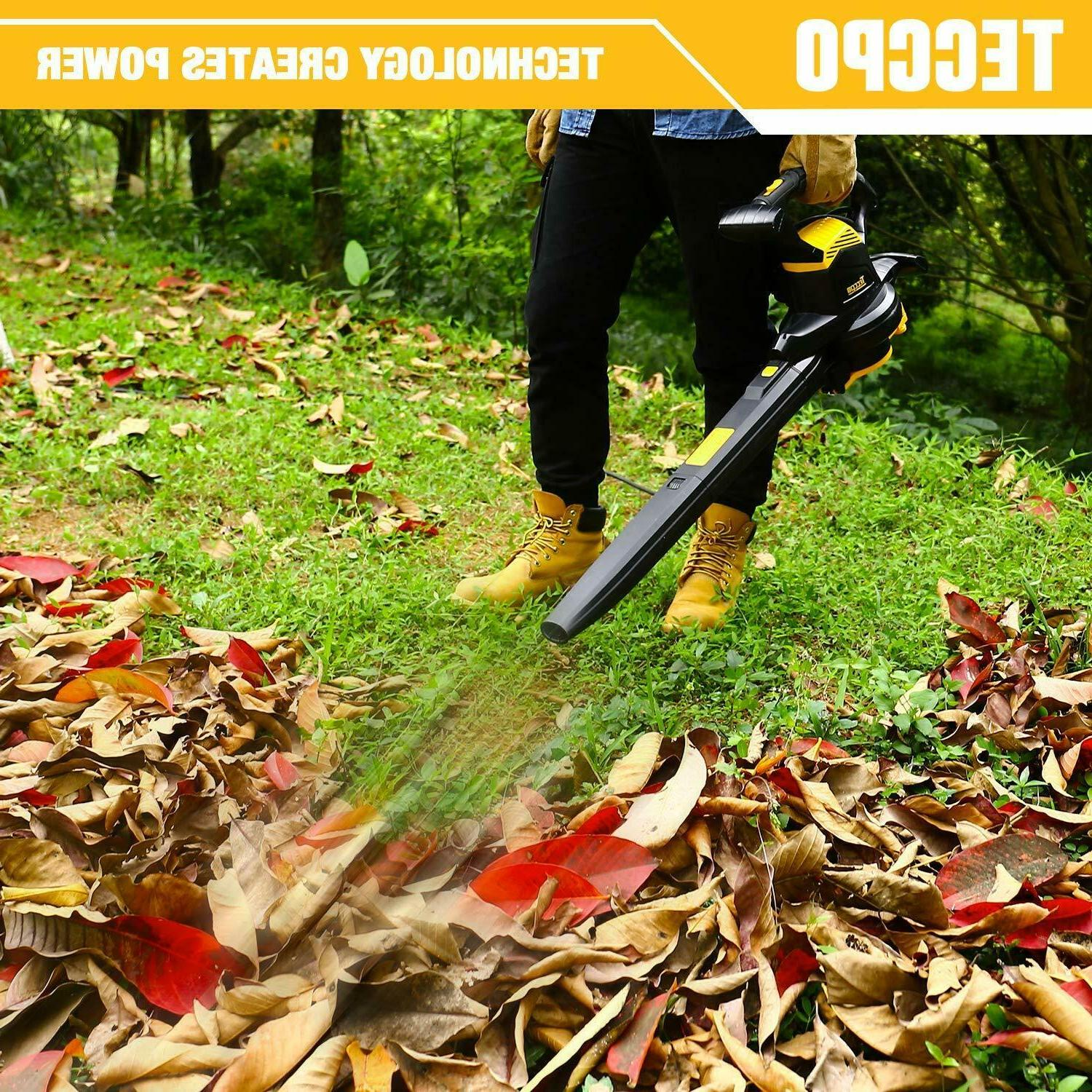Leaf Vacuum, 12-Amp 250MPH 410CFM in 1 Corded Electric Two-Speed
