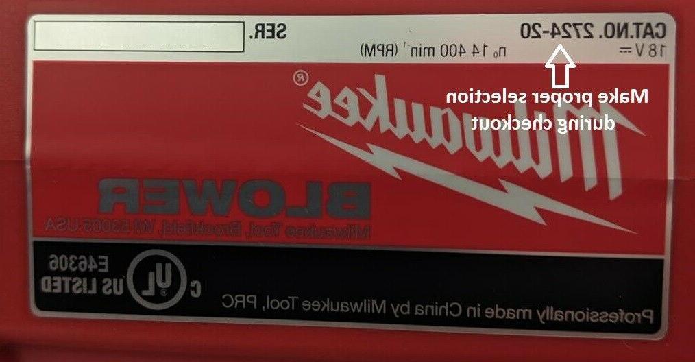 Milwaukee Blower Nozzle , Tip - 2724-20