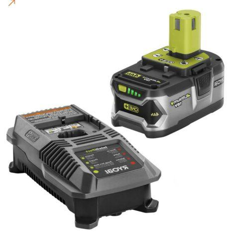 Ryobi Cordless Leaf Blower Battery & Charger 100mph