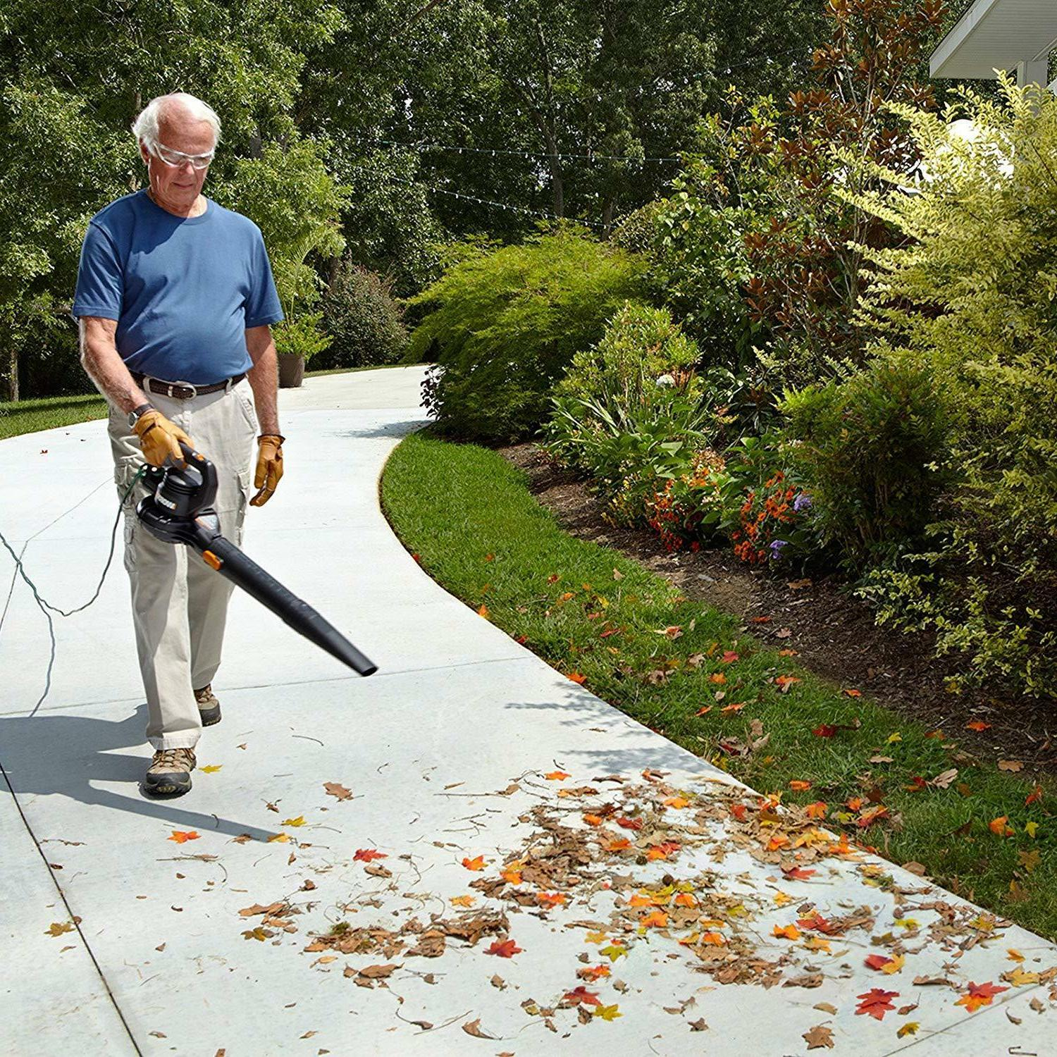 Powerful Leaf Blower Sweeper 2-Speed Speed Range from mph