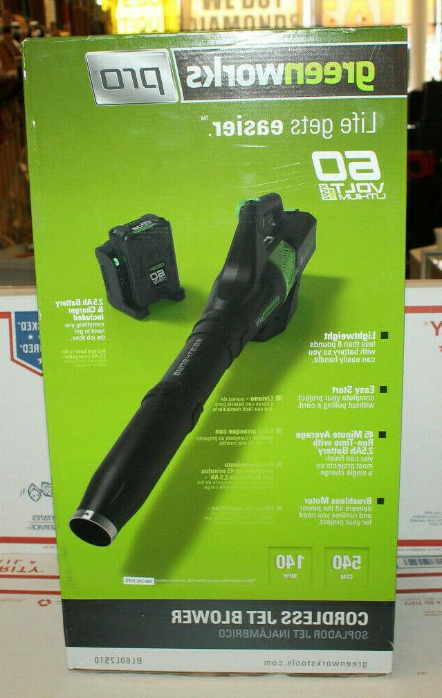 pro 60v cordless jet leaf blower li