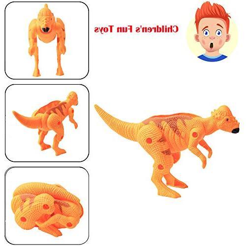 transform simulation dinosaur model deformed