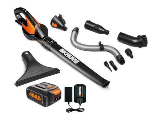 WORX WG545.4 AIR 20V PowerShare 4.0 ah Cordless Blower with