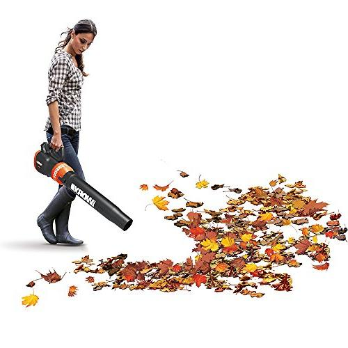 WORX TURBINE Cordless BlowerSweeper with CFM 2-Speed Axial Fan with