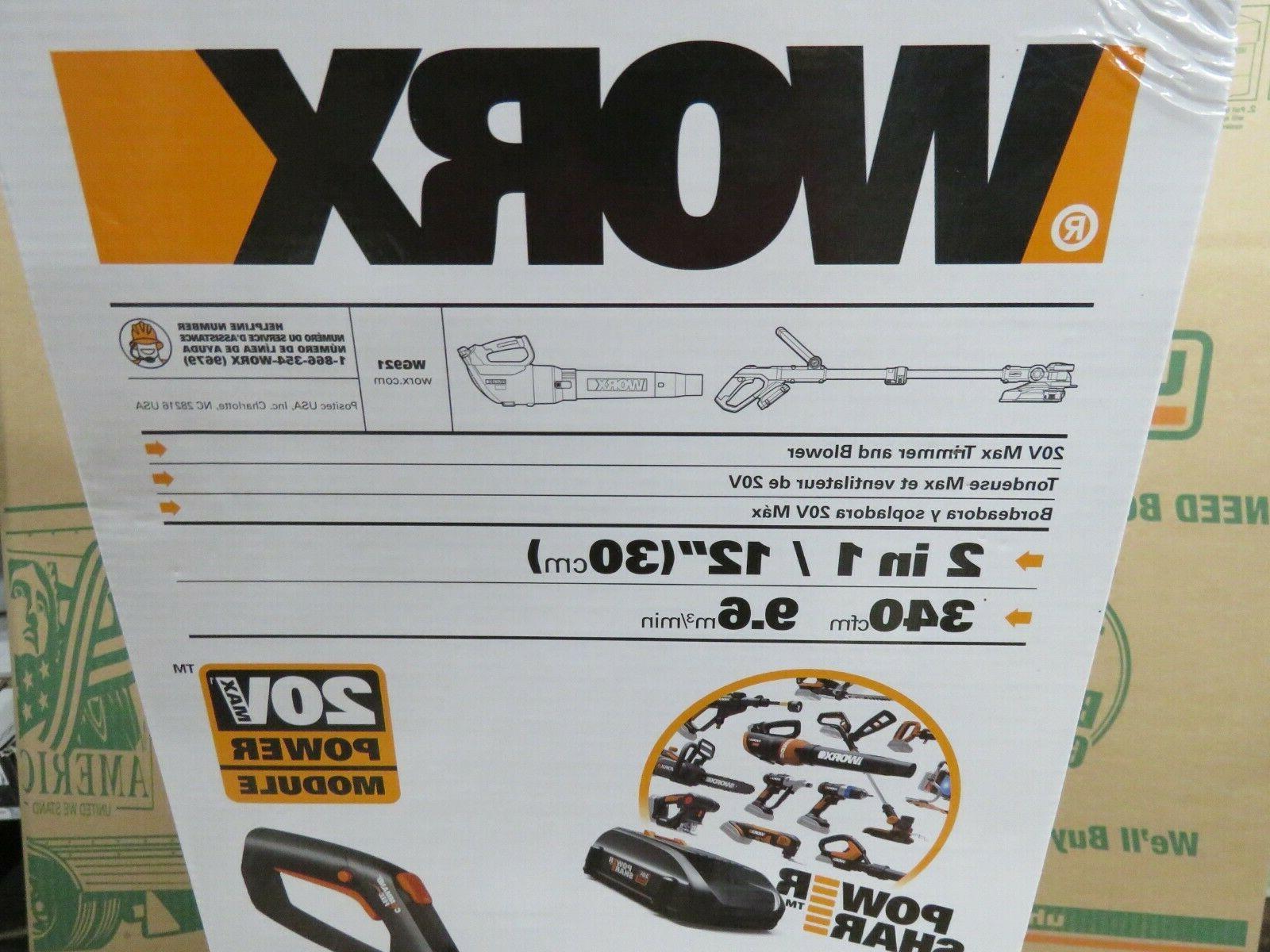 WORX WG921 20V Grass Trimmer / Edger & Leaf Batteries