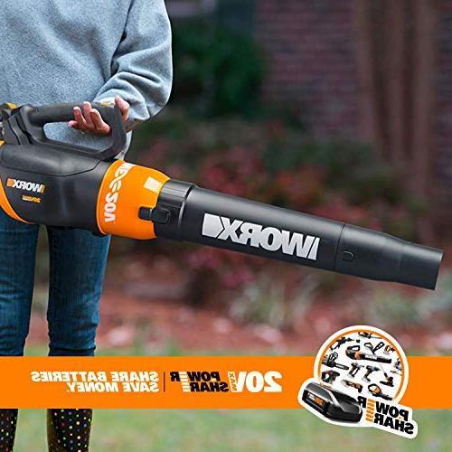 Worx WG954.1 Revolution Grass Blower Two Batteries,