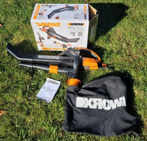 worx trivac collection lightweight s blower mulcher