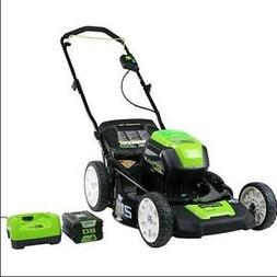"""GreenWorks 80-volt 21"""" Lawn Mower 4.0ah Battery & Charger #2"""