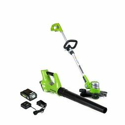 String Trimmer & Leaf Blower Combo 24-Volt Cordless With 2Ah