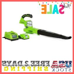 Leaf Blower Cordless 90MPH + Lithium-Ion 24V Battery/Charger
