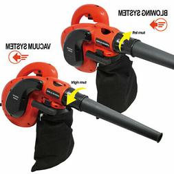 Electric Corded Leaf Blower Vacuum Cleaner Garden Home Yard