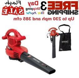 Leaf Blower Vacuum Machine 12-Amp Lawn Yard Mulcher Bag 2 Sp