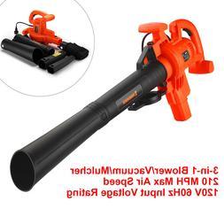 Leaf Blower Vacuum Machine 12Amp Lawn Yard Mulcher Bag 2 Spe