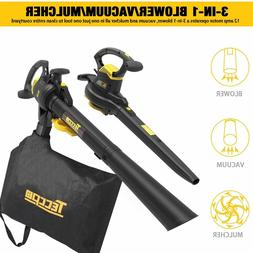leaf blower vacuum teccpo 12 amp 250mph