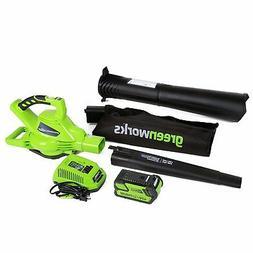 Leaf Cordless Blower Vacuum Variable Speed Brushless Lawn Ga