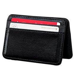 Pausseo Mini Men Women Neutral Magic Bifold Leather Wallet C