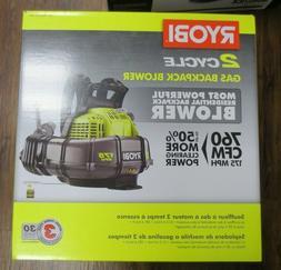 New! Ryobi  2 Cycle Gas Backpack Blower 175 MPH 760 CFM  RY3