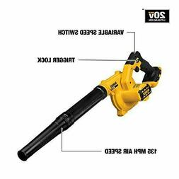New DEWALT 20V MAX Li-Ion Compact Jobsite Blower DCE100B