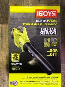 NEW RYOBI RY40406 110 MPH 500 CFM 40V CORDLESS LEAF BLOWER,