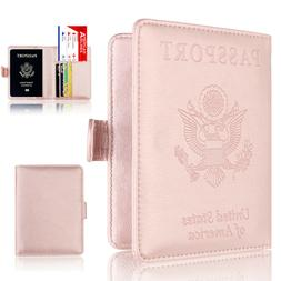 New Slim Leather Travel Passport Wallet Holder RFID Blocking