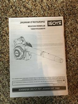 operator s manual blower vacuum ry08554 ry09907
