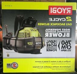 Ryobi RY38BP 175 MPH 760 CFM 2 Cycle Backpack Blower - NEW